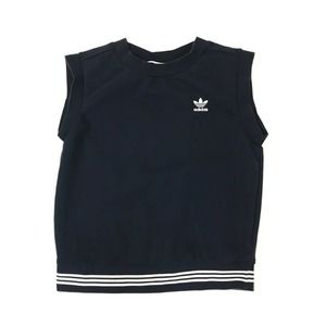 Adidas Navy Blue Terry Pullover Sleeveless Activewear Athleisure Top XS